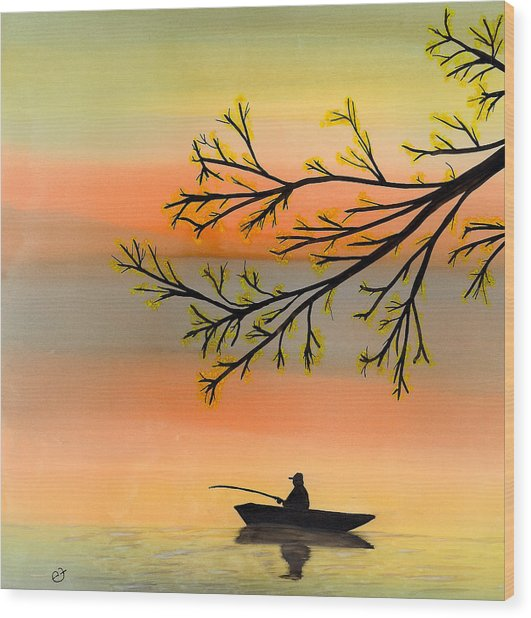 Seeking Solitude Wood Print