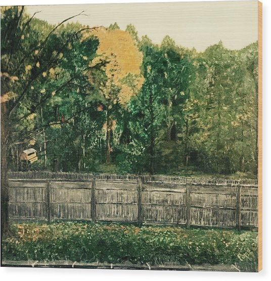 Seekonk Farm Wood Print