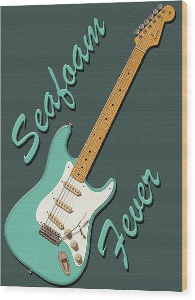 Seafoam Fever Wood Print
