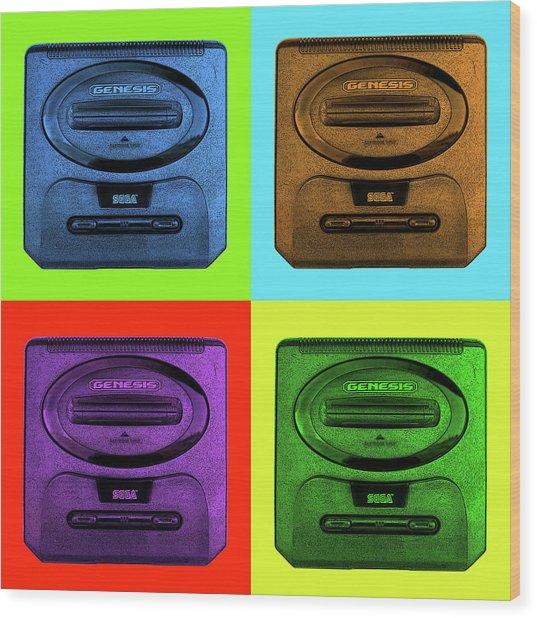 Sega Genesis Wood Print