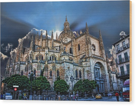 Segovia Cathedral  Wood Print