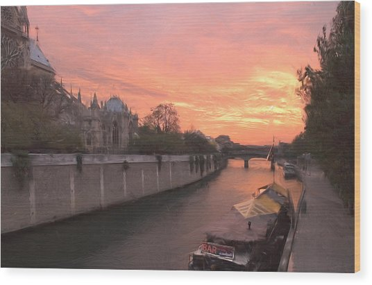 Seine River Wood Print