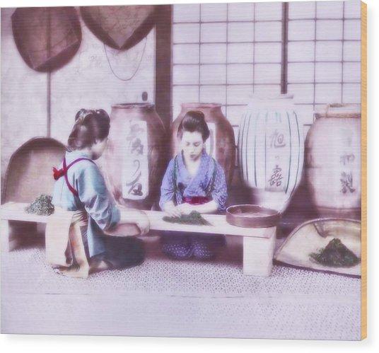 Selecting Tea Wood Print