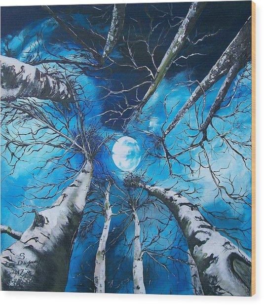 Selenophilia Wood Print