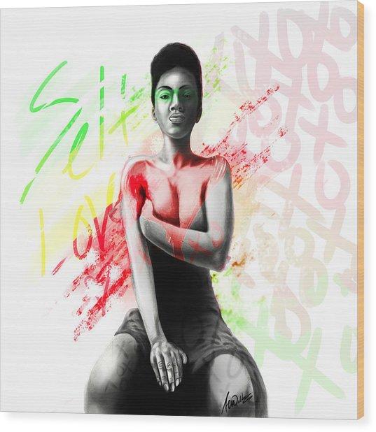 Self Love Xoxo Wood Print