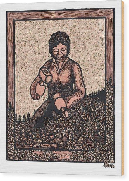 Self Made Woman Wood Print by Ricardo Levins Morales
