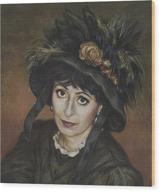Self-portrait A La Camille Claudel Wood Print