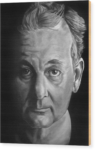Self Portrait - If I Looked Like Bill Murray Wood Print