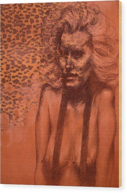 Self Portrait Wood Print by J Oriel