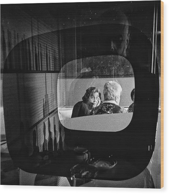 Selfportrait With Pop Lady  #people Wood Print