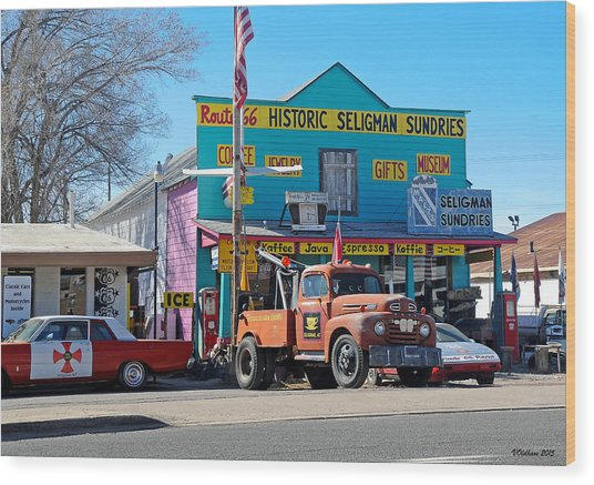 Seligman Sundries On Historic Route 66 Wood Print