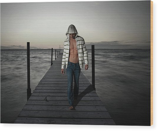 Wood Print featuring the photograph Selkie by Michael Taggart