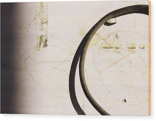 Semi-circle Wood Print by Prakash Ghai