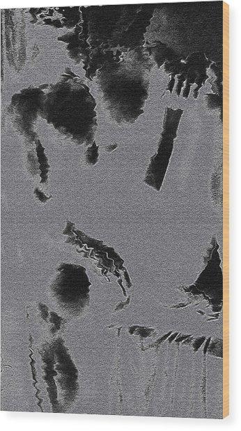 Semi-nude Original Abstract Art Cowboy Wood Print