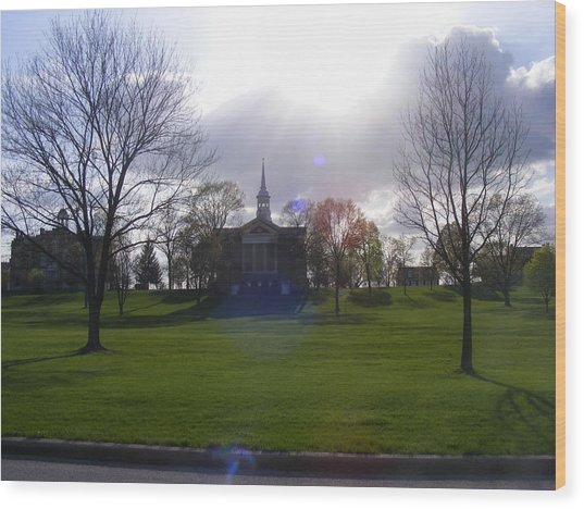 Seminary Ridge Wood Print