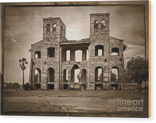 Seminary Ruins Wood Print