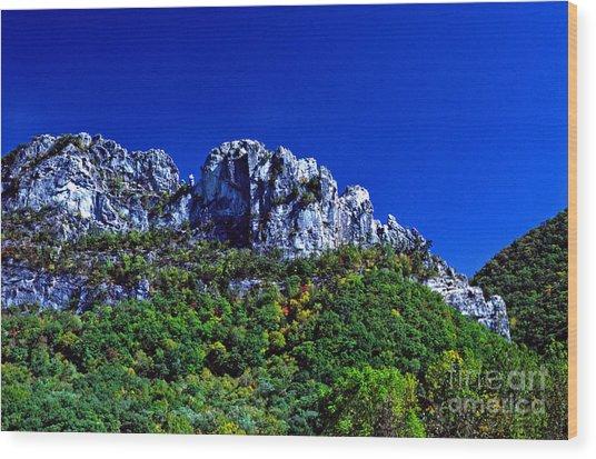 Seneca Rocks National Recreational Area Wood Print