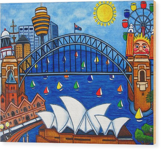 Sensational Sydney Wood Print