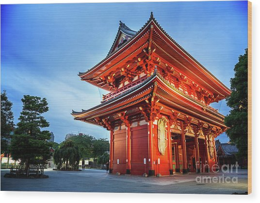 Sensoji Temple Wood Print