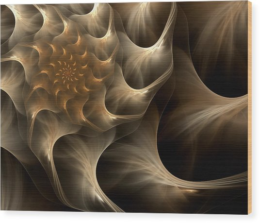 Sensual Satin Wood Print by Georgiana Romanovna