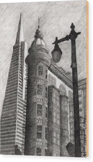 Sentinel Building Wood Print