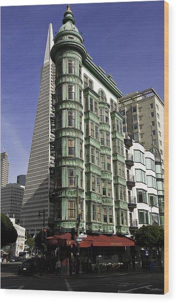 Sentinel Building San Francisco Wood Print