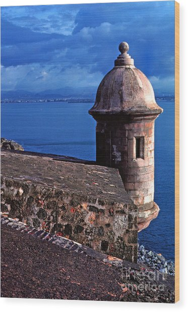Sentry Box El Morro Fortress Wood Print
