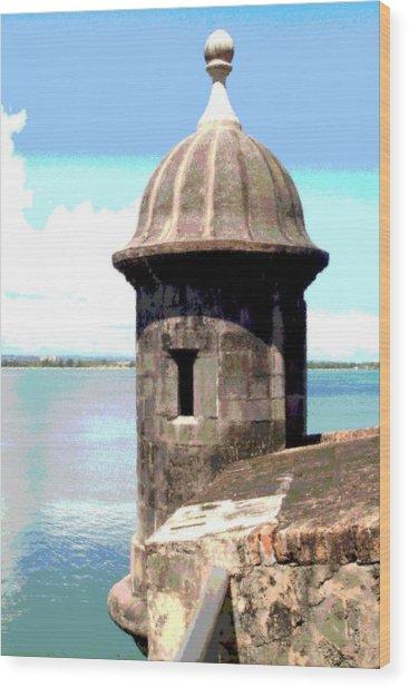 Sentry Box In El Morro Wood Print