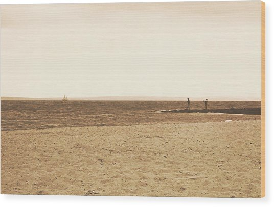 Sepia Sands Wood Print by JAMART Photography