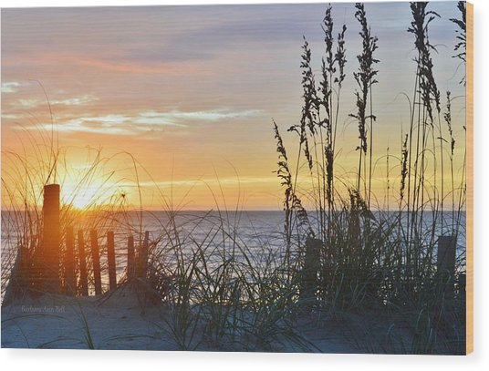 September 27th Obx Sunrise Wood Print