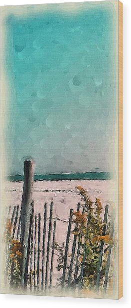 September Beach Wood Print