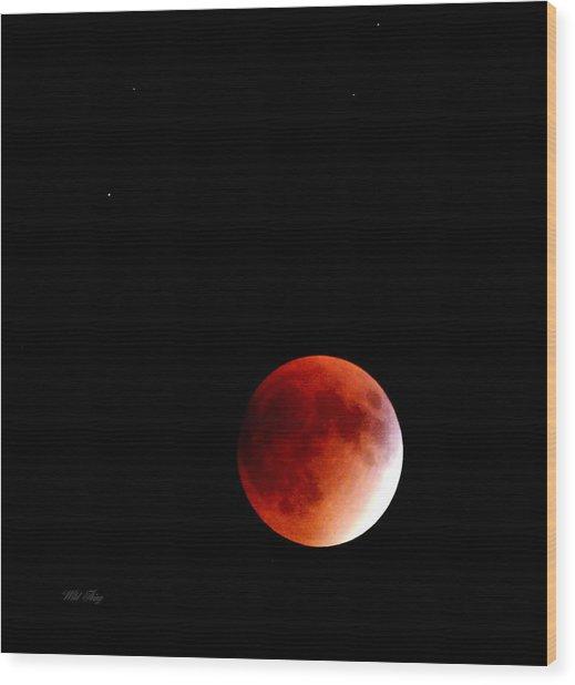 September Bloodmoon 2015 Wood Print