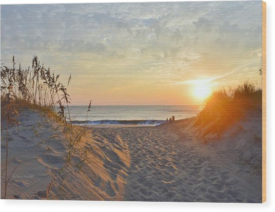 September Sunrise Wood Print