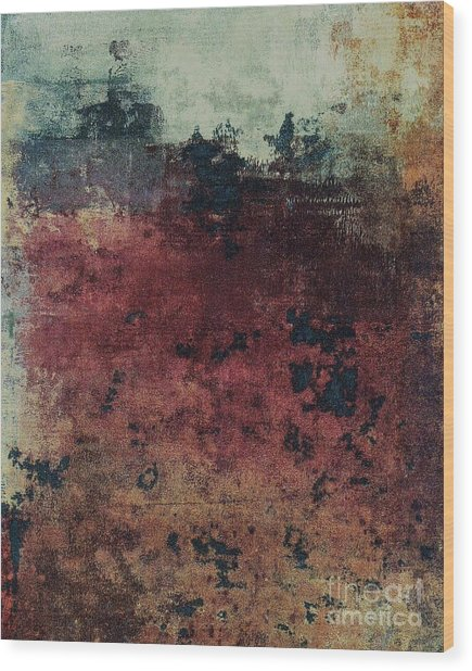 Wood Print featuring the mixed media Ser. 1 #03 by Writermore Arts