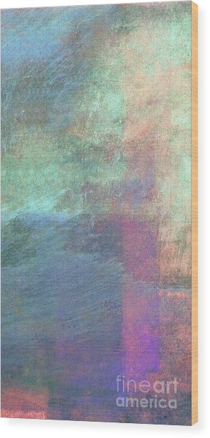 Wood Print featuring the mixed media Ser. 1 #04 by Writermore Arts