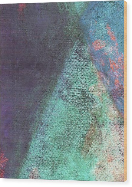 Wood Print featuring the mixed media Ser. 1 #07 by Writermore Arts