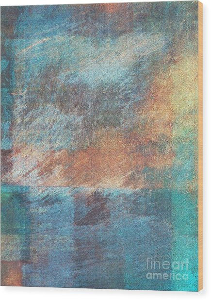 Wood Print featuring the mixed media Ser.1 #09 by Writermore Arts