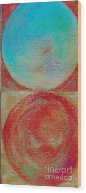 Wood Print featuring the mixed media Ser.2 #02 by Writermore Arts