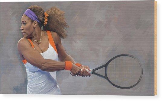 Serena Williams Artwork Wood Print