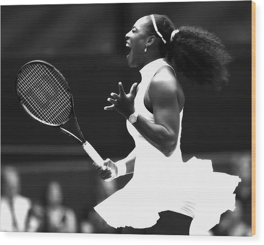 Serena Williams Making Magic Happen Wood Print