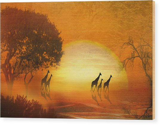 Serenade Of The Serengeti Wood Print