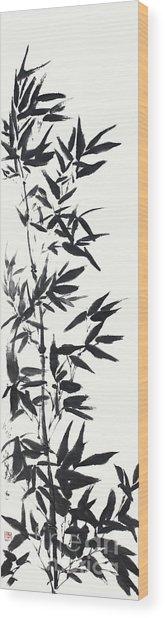 Serene Bamboo Wood Print by Nadja Van Ghelue