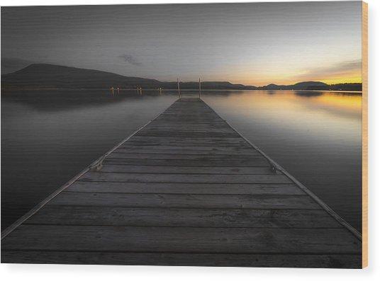 Serene Lake 2 Wood Print