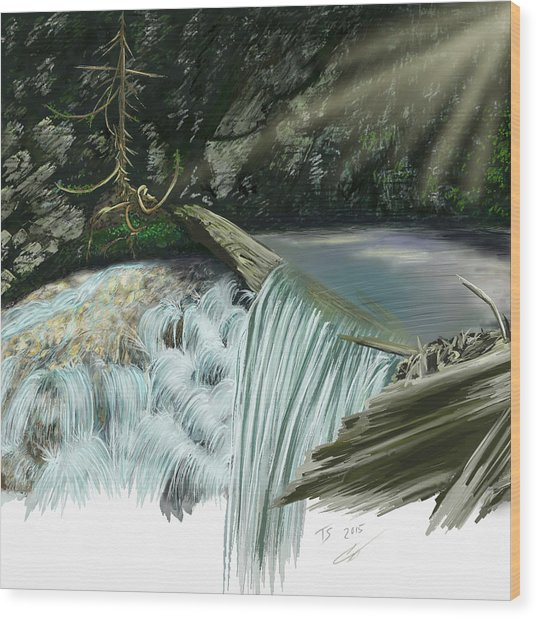 Serene Oasis Of Stagger Inn Wood Print