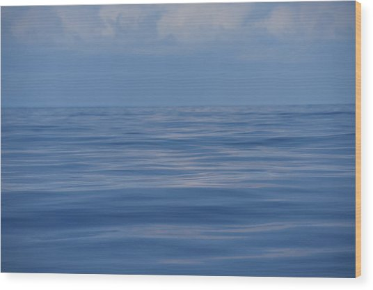Wood Print featuring the photograph Serene Pacific by Jennifer Ancker