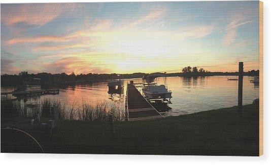 Serene Sunset Wood Print