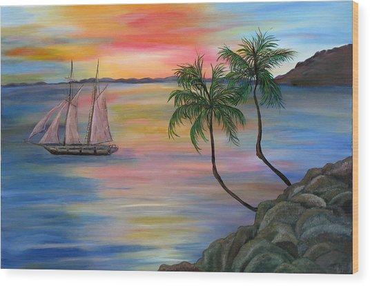 Serenity Bay Wood Print by Mikki Alhart