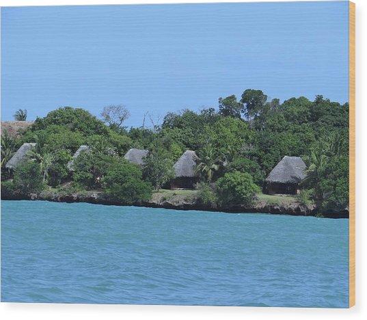 Serenity - Chale Island Kenya Africa Wood Print