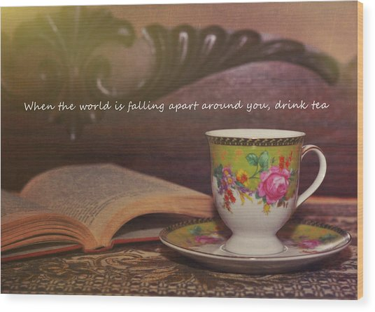 Serenity Quote Wood Print by JAMART Photography