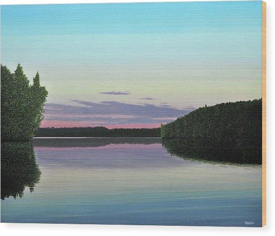 Serenity Skies Wood Print